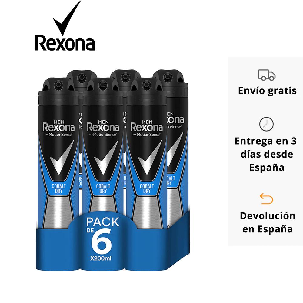 Paquete 6X200ml Total 1200ml Rexona Desodorante Antitranspirante Cobalt Dry
