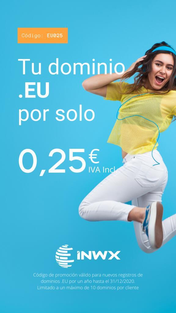 Aún más rebajados: Registro de dominios .EU por 0,25€