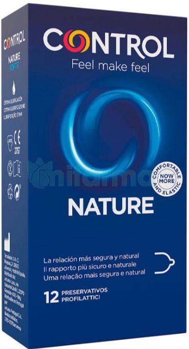 Control Preservativos Nature - Caja de condones 12 Unidades