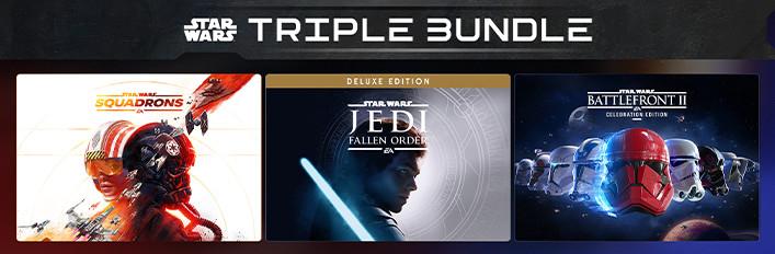 TRIPLE LOTE STAR WARS: Squadrons- Jedi Fallen Order- Battlefront II