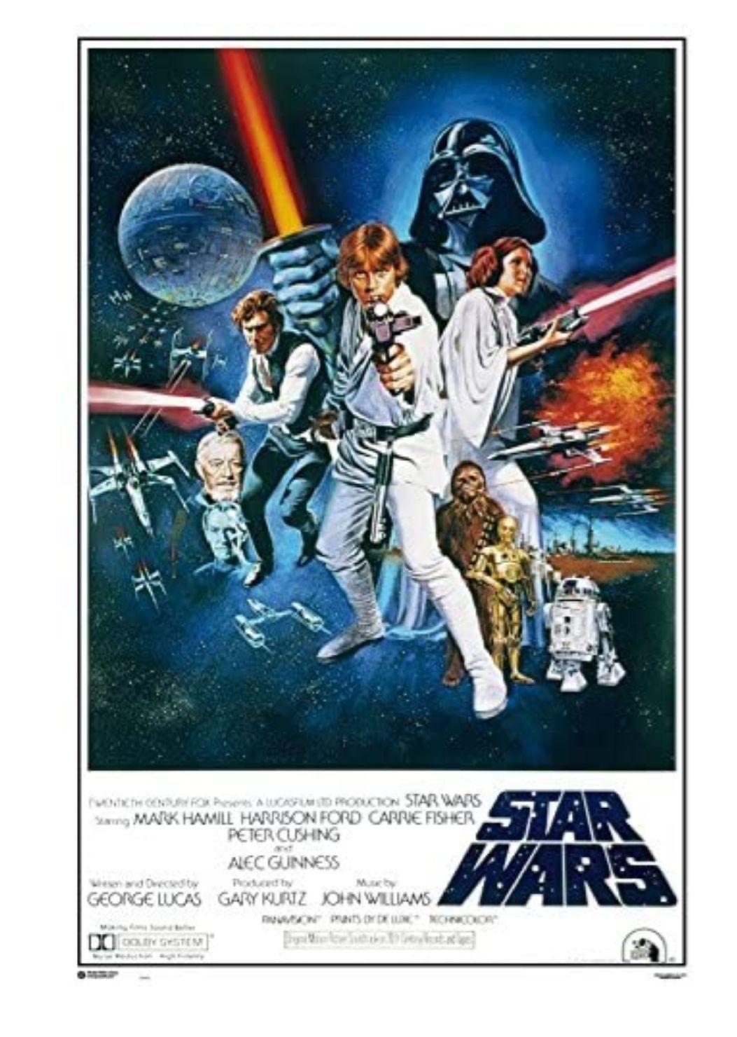 Poster Star Wars La Guerra De Las Galaxias