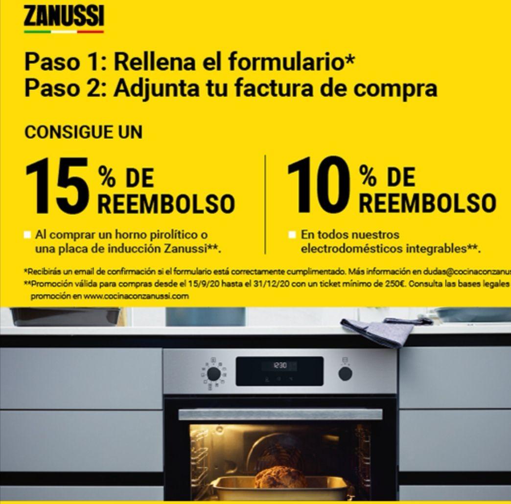 Hasta 15% de reembolso en electrodomésticos Zanussi