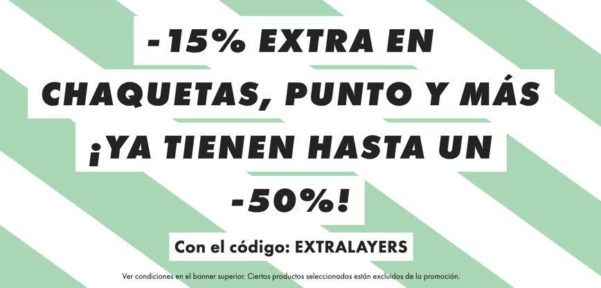 50% + 15% extra en chaquetas, punto y más en ASOS