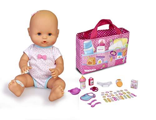 Nenuco- Pañalera, muñeca bebé con Bolso de Accesorios (Famosa 700015831)