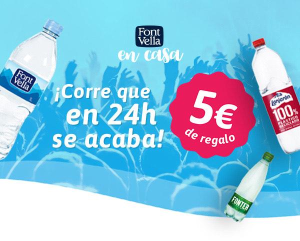 5€ de Regalo en Font Vella para pedidos +25€