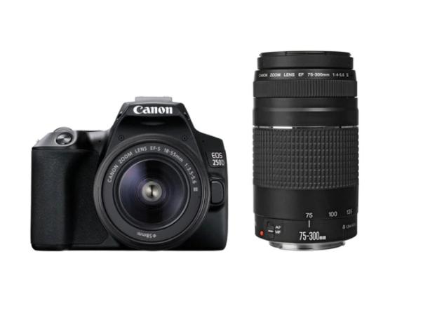 Cámara Réflex Canon EOS 250D+18-55+75-300DC