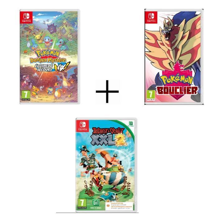 Pack Switch | Pokémon Mystery Dungeon + Pokémon Shield + Asterix XXL2
