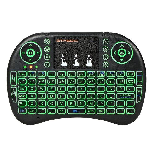 GTmedia-teclado inalámbrico i8, retroiluminado, versión española, Air Mouse, 2,4 GHz, Touchpad portátil para Android TV BOX X96 GTC G1