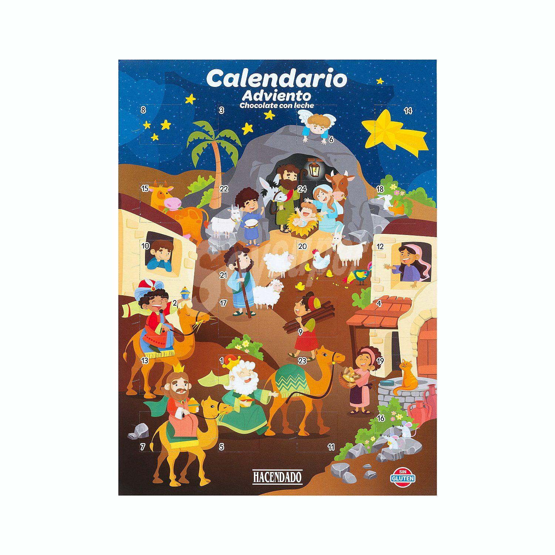 Calendario Adviento Chocolate Sin Gluten Mercadona (Hacendado)