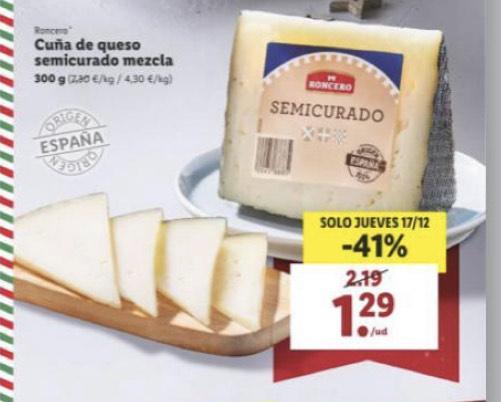 Cuña de queso semicurada