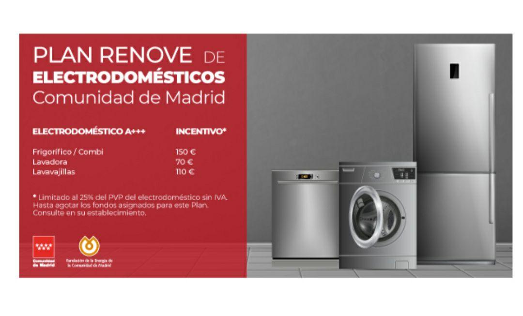 Plan renove electrodomésticos Comunidad de Madrid