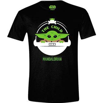 Camiseta Star Wars - The Mandalorian The Child Basket Negro Talla M