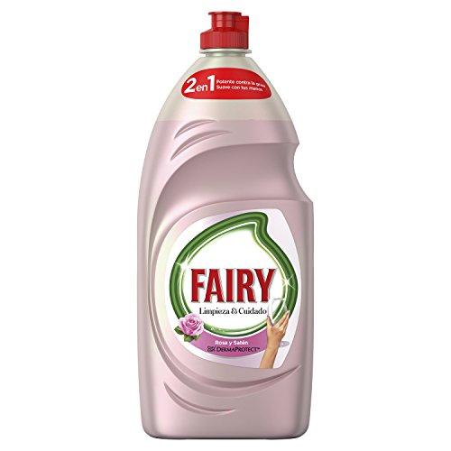 Fairy Limpieza y Cuidado Líquido Lavavajillas de Rosa y Satén - Total: 4060 ml