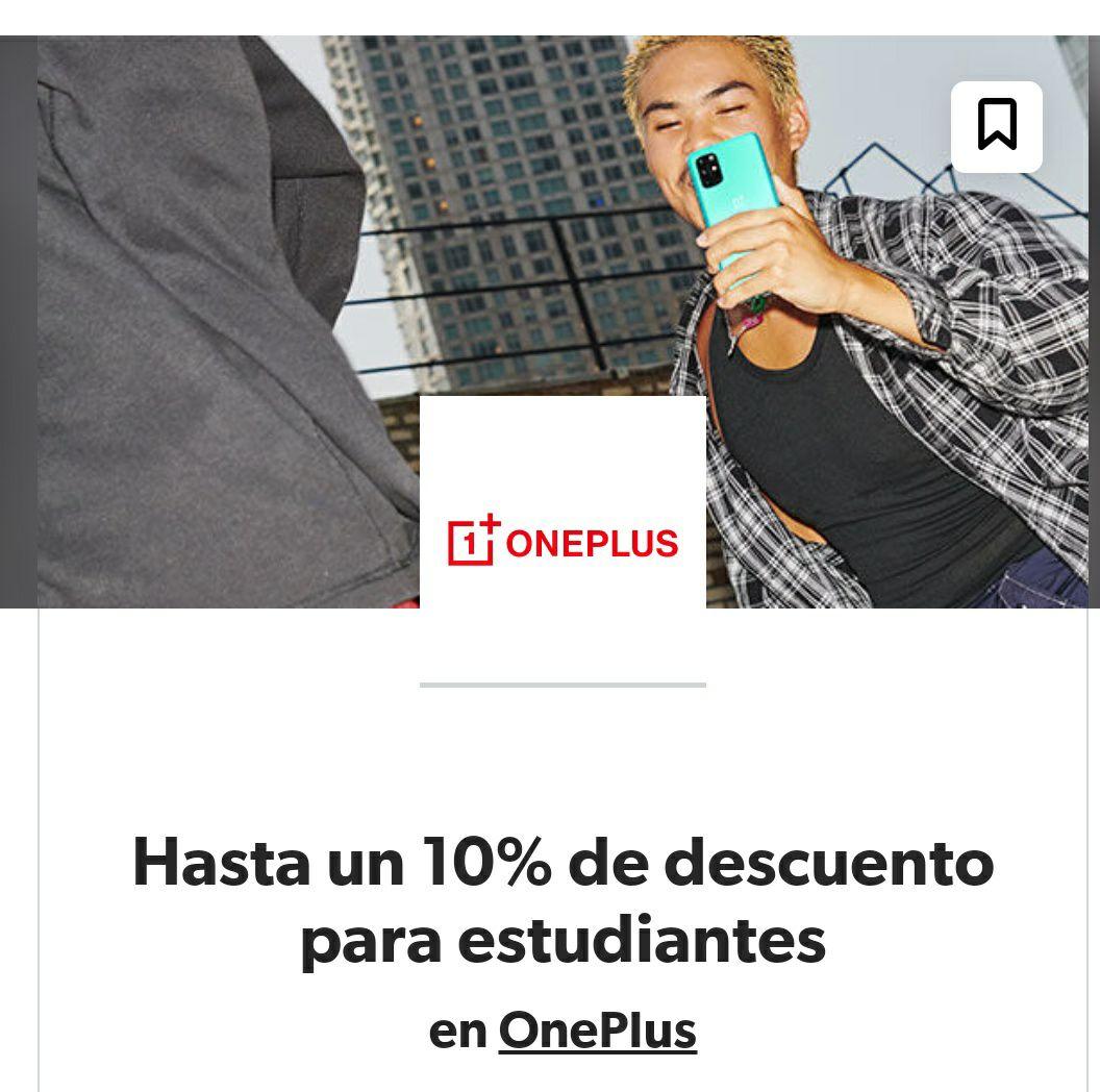 10% de descuento en OnePlus para estudiantes universitarios en StudentBeans