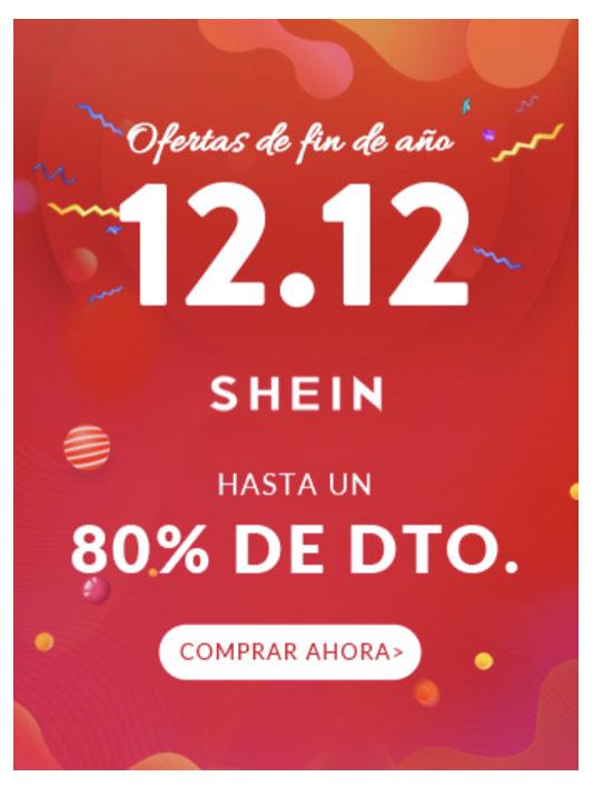 Oferta 12.12 SHEIN hasta 80% descuento
