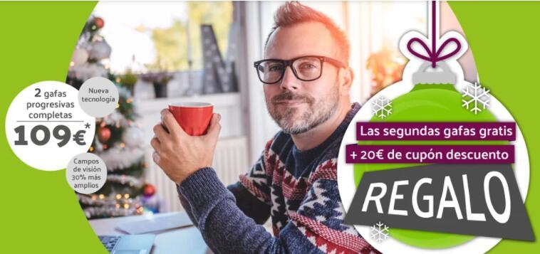 Dos gafas progresivas por 109 €