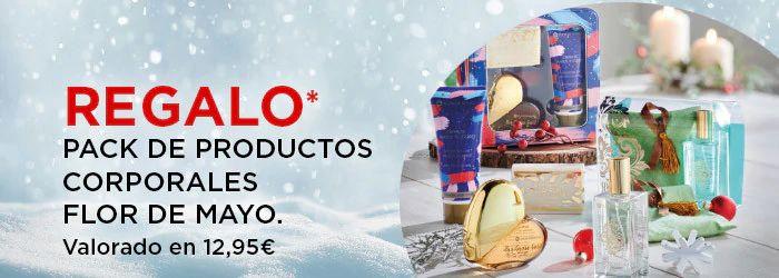 Regalo Pack De Productos Corporales Flor De Mayo Valorado en 12,95€. *Por compras superior A 20 €