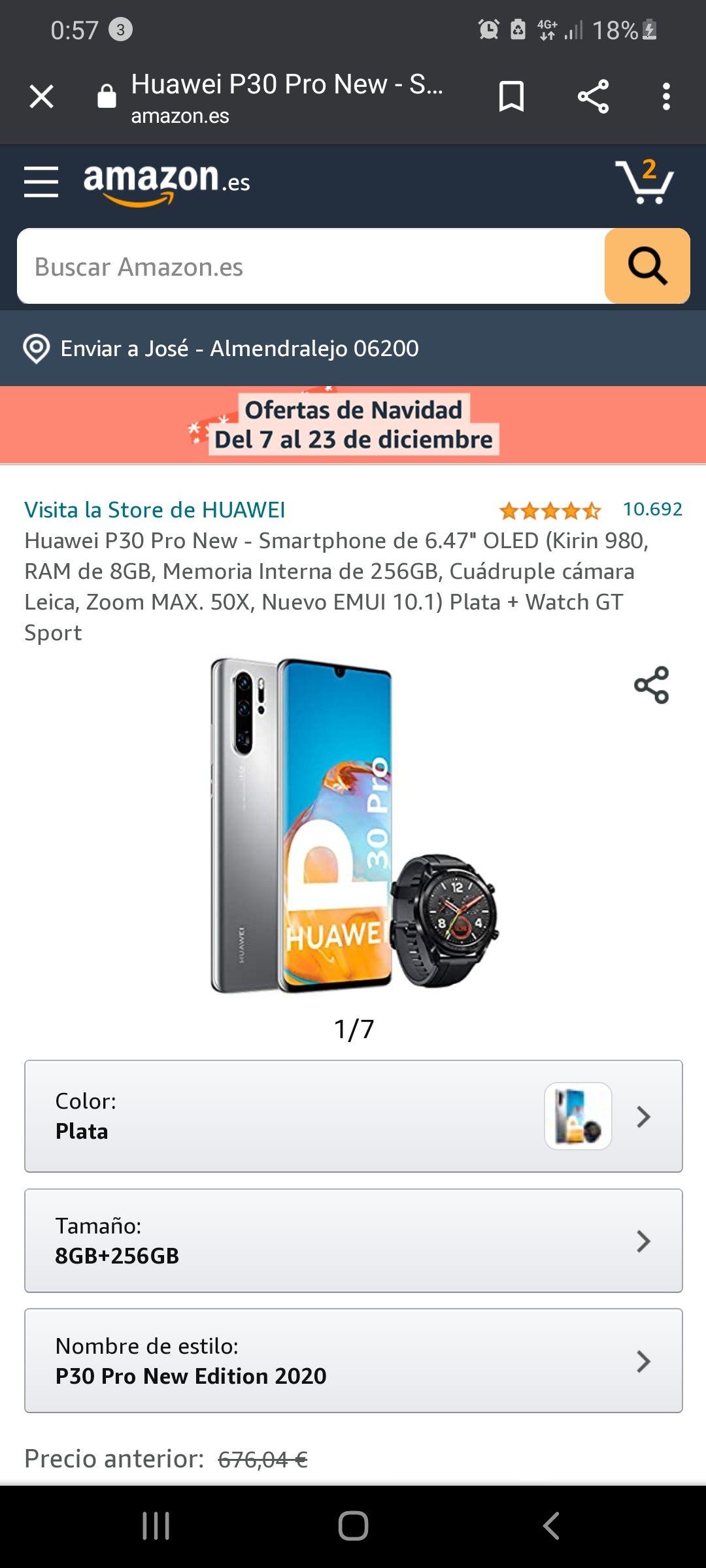 Huawei P30 pro + reloj watch gt sport
