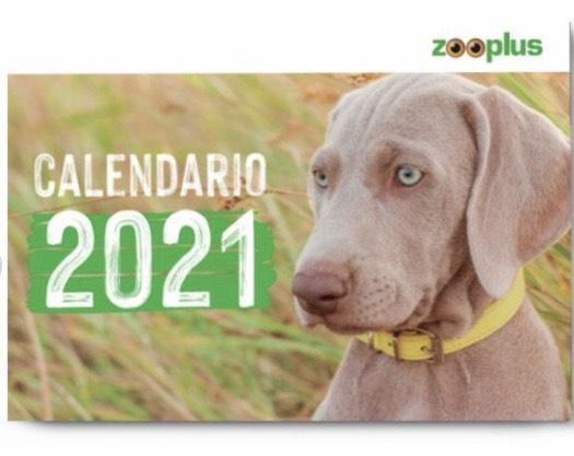 Calendario zooplus 2021 gratis con el pedido para tu mascota
