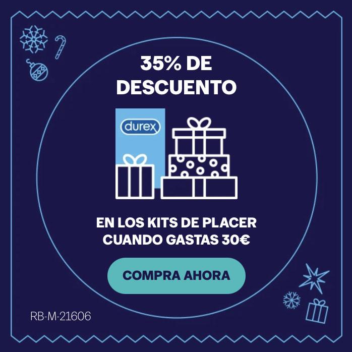 35% de descuento en kits de placer Durex