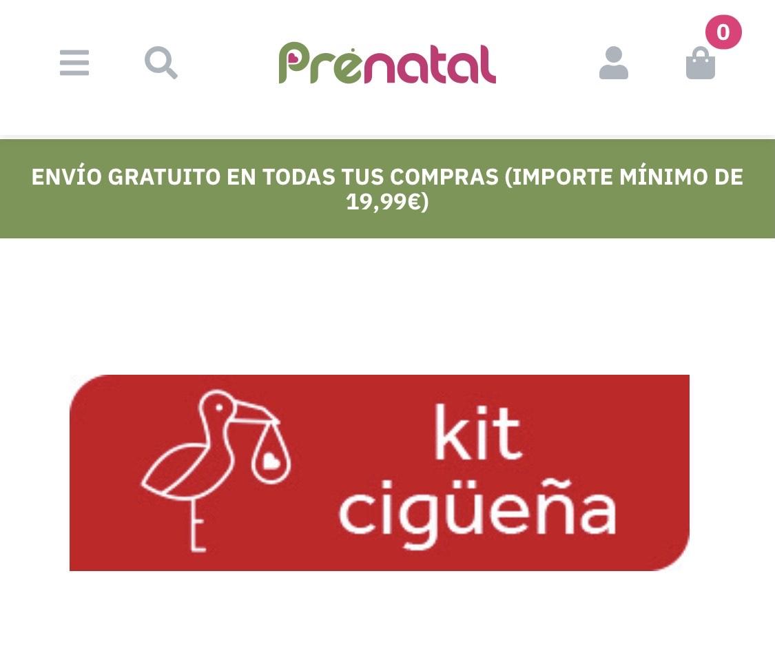 Kit cigüeña ( regalo de 300€ por cada 1000€) solo tiendas