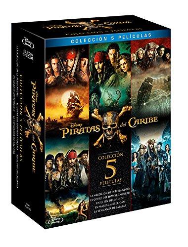 Películas Piratas Del Caribe - Los 5 Volúmenes BLU-RAY Español