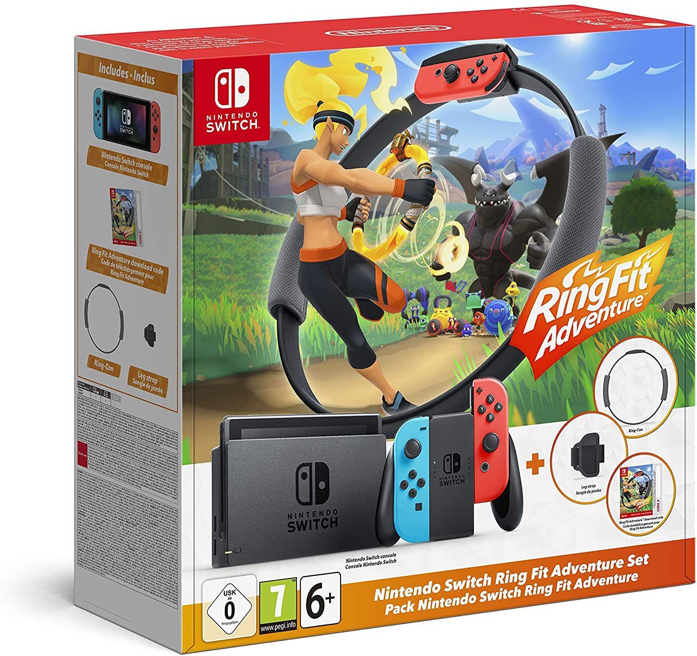 Nintendo Switch Neon + Ring Fitadventure pack