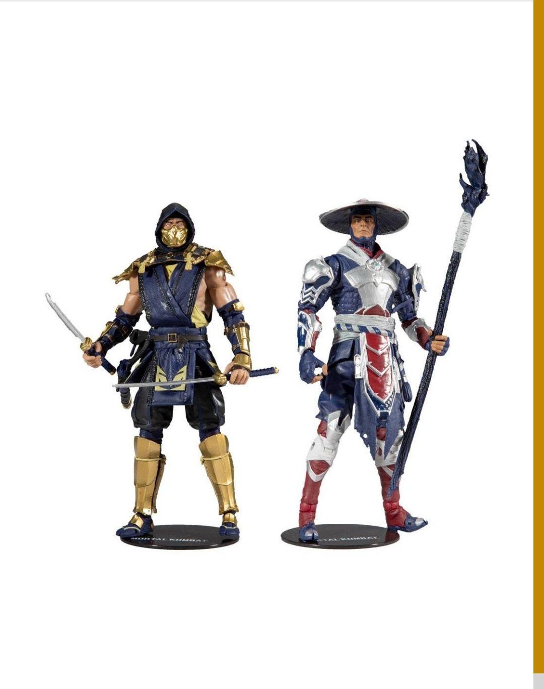 Figura Scorpion & Raiden. Mortal Kombat 11 Mcfarlane