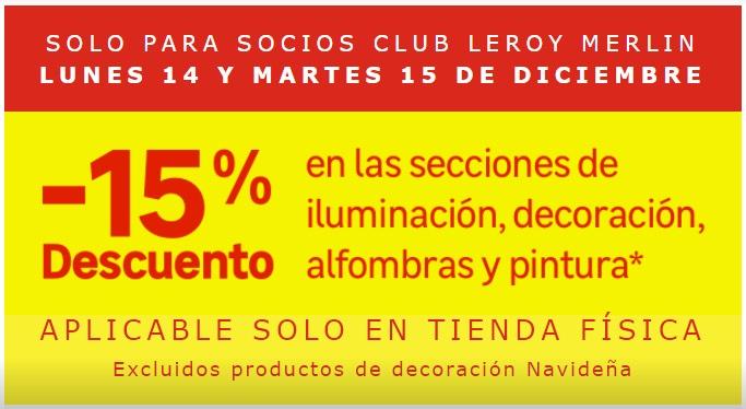 -15% en secciones decorativas Leroy Merlin