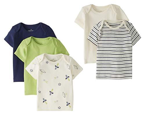 Pack 5 Camisetas de Cuello Redondo - Bebé Talla 56 - 62