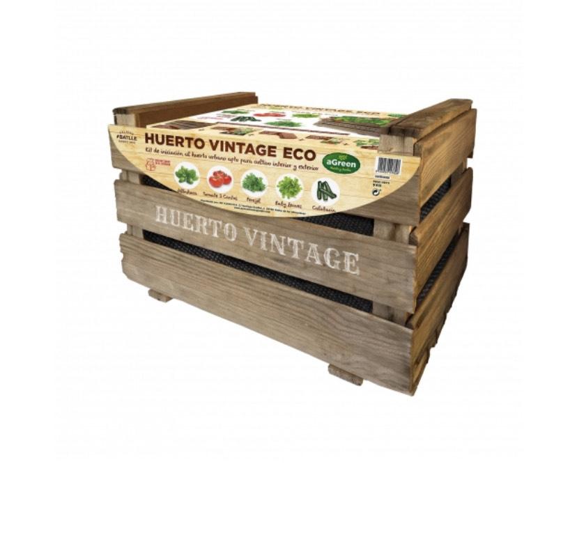 Kit huerto urbano Vintage + semillas+sustrato+instrucciones... solo 19,95€!!