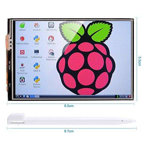 Kumán Para Raspberry Pi 3 2 TFT LCD Pantalla, 3,5 Pulgadas 320*480 TFT Pantalla Táctil Monitor de Raspberry Pi Modelo B B + A + A Módulo de interfaz SPI con la Pluma Táctil SC06