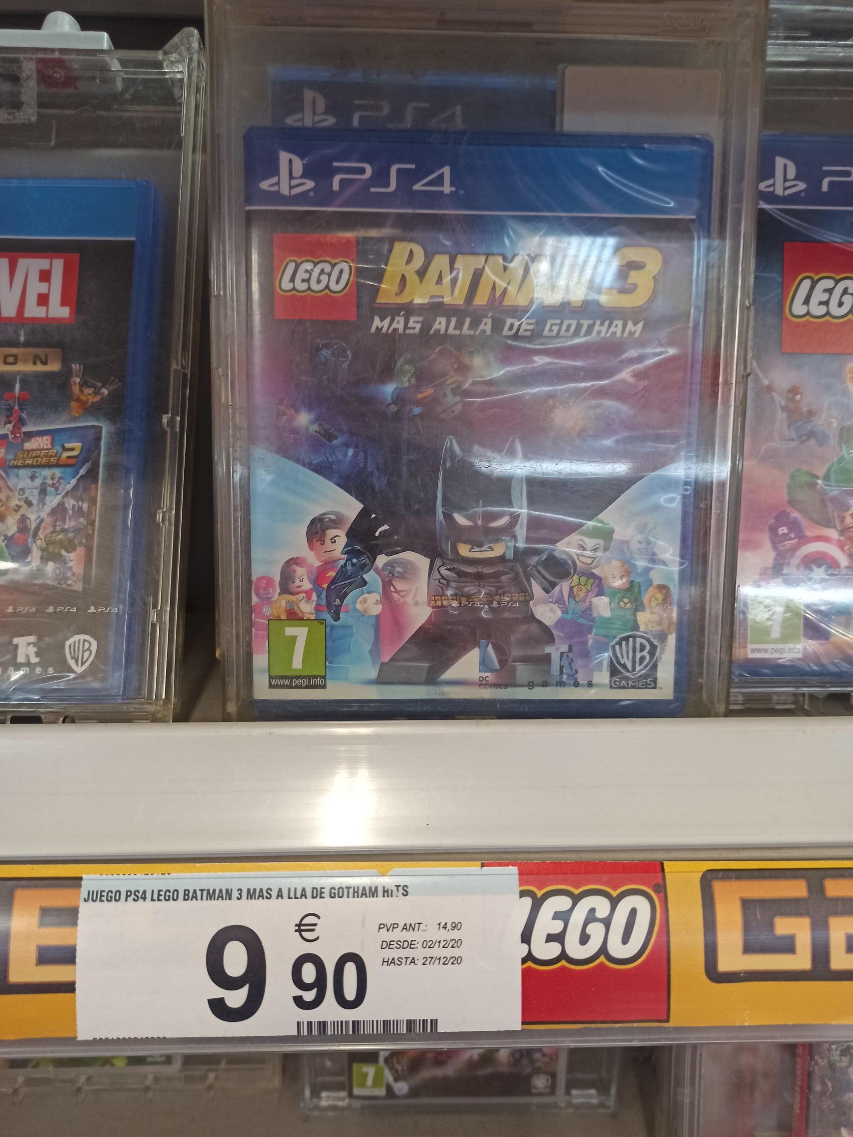 Juego ps4 batman 3 lego (Carrefour Castellón)