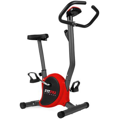 Bicicleta estatica roja FITFIU ultracompacta regulable 8 niveles y pantalla LCD