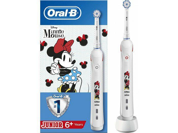 Cepillo eléctrico recargable Braun Oral-B Junior Minnie Mouse