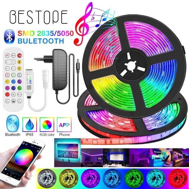 Tira de luces LED RGB Bluetooth 5M