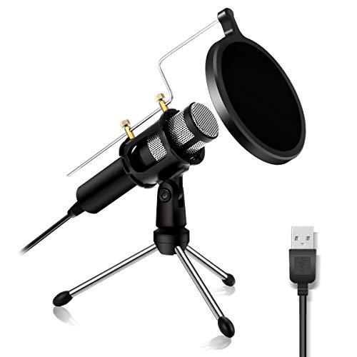 Micrófono de PC – NASUM USB Plug & Play Professional Home Studio micrófono de condensador USB