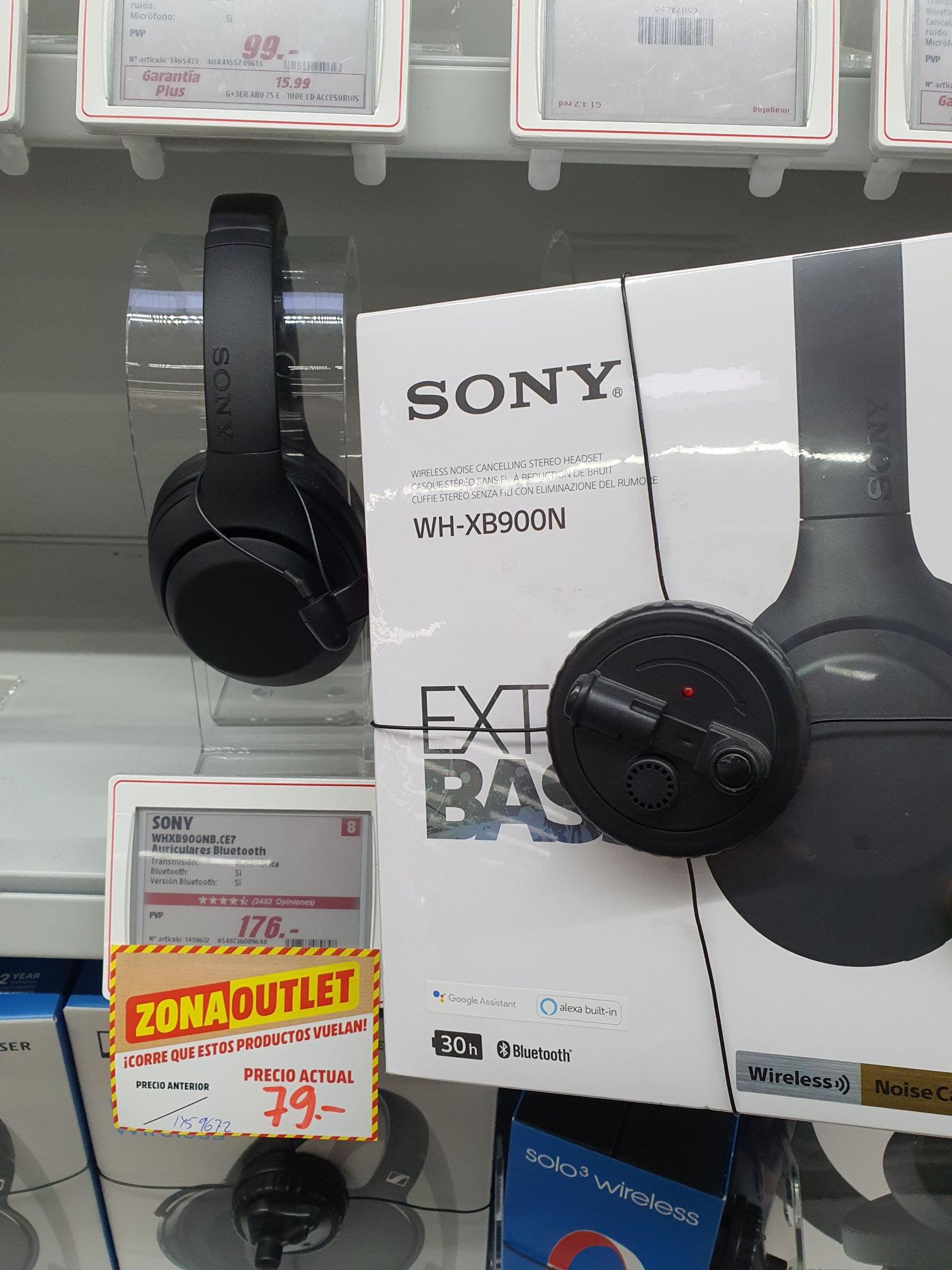 Sony WHXB900N, Bluetooth, Cancelación de ruido