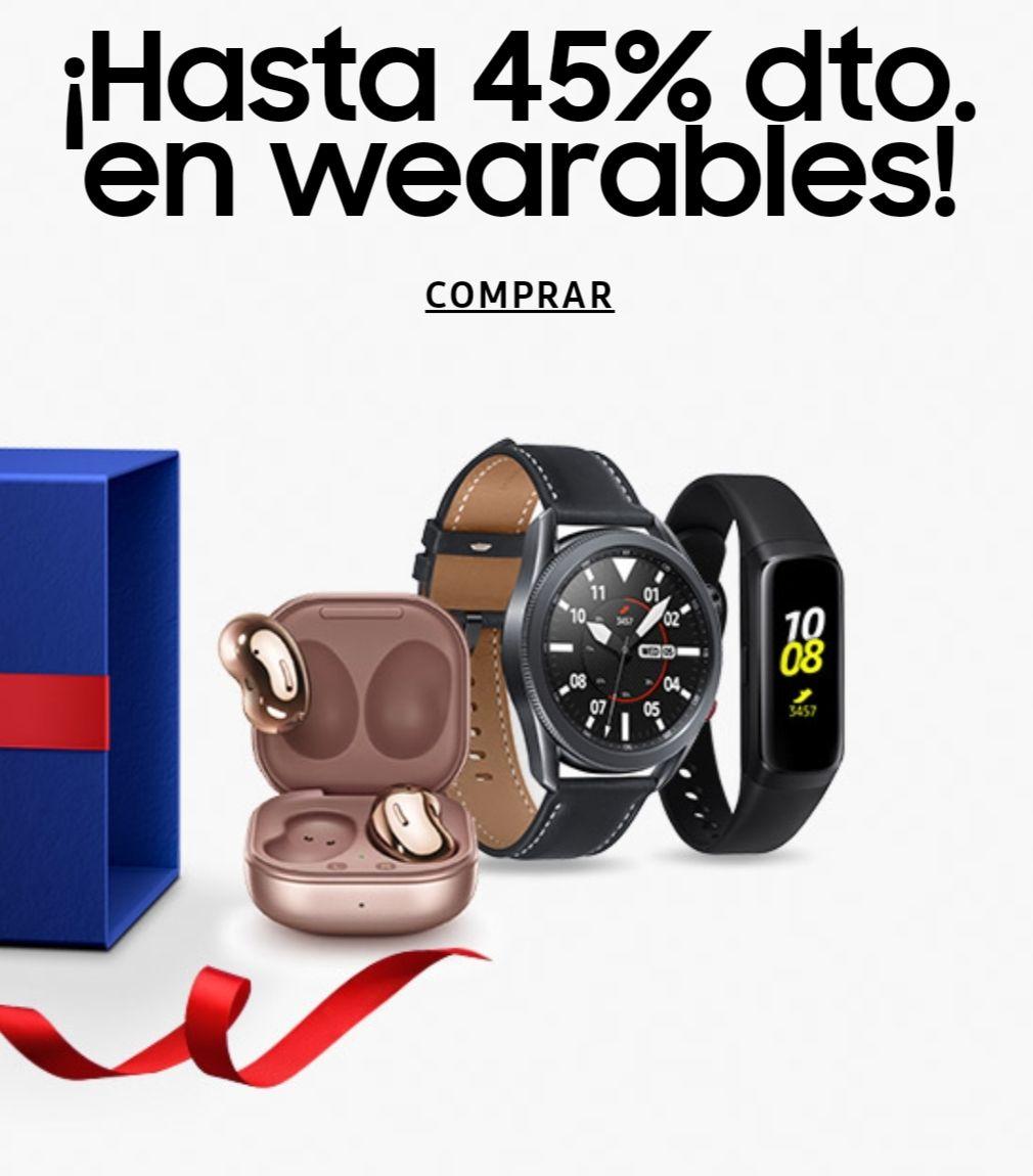 Hasta un 45% en wearables Samsung (UNiDAYS)