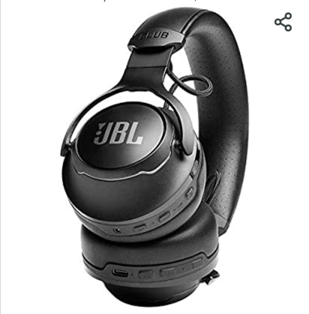 JBL Club 700 - Auriculares supraaurales, con cable e inalámbricos con capacidad Bluetooth con micrófono, en negro