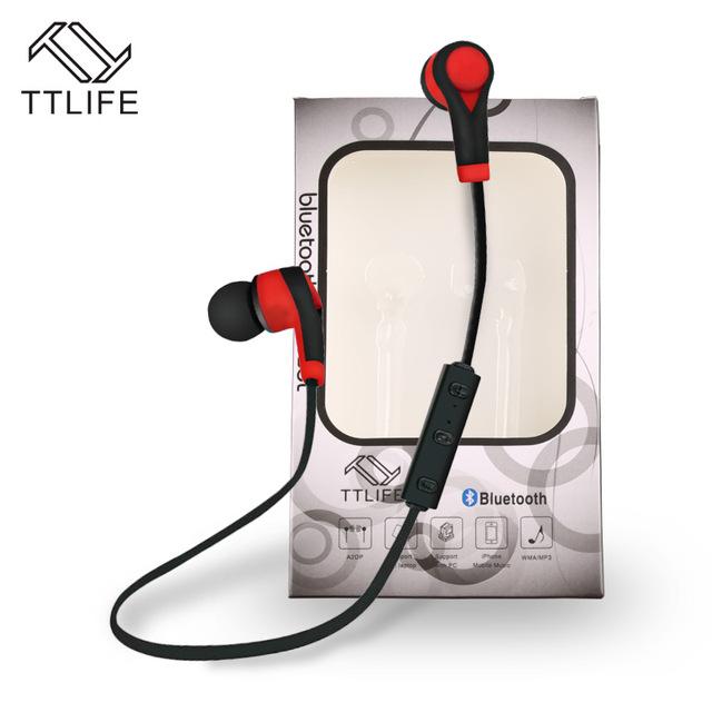 Ttlife auriculares bluetooth wireless sport portátil estéreo con micrófono para iphone xiaomi huawei smartphone android cancelación de ruido de auriculares