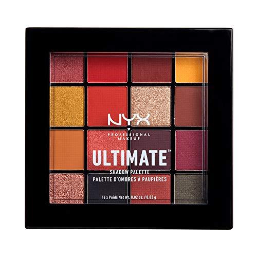 NYX Professional Makeup Paleta de sombra de ojos Ultimate Shadow Palette, 16 sombras, Acabados mate, satinados y metalizados, Tono: Phoenix
