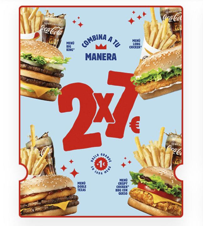 Vuelve el 2x7 a Burger King
