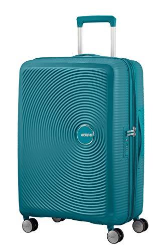 American Tourister Soundbox - Spinner Medium Expandable Maleta, 67 cm, 81 Liters, Verde (Jade Green)