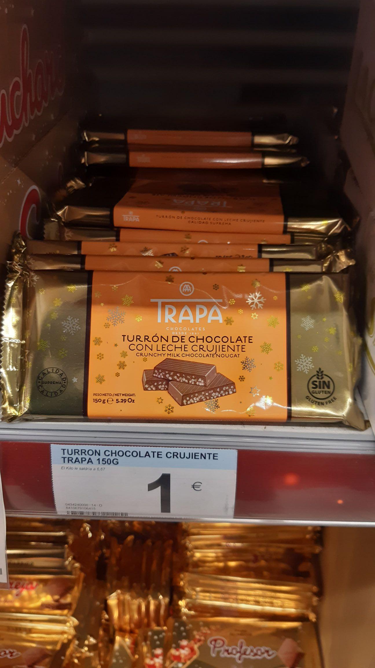 Turron Chocolate Trapa en Carrefour de Alcobendas