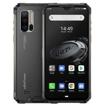 Ulefone Armor 7E IP68 IP69K Impermeable 6,3 pulgadas 4GB 128GB 48MP Triple Cámara NFC 5500mAh Helio P90 Octa Core 4G - Black EU Version