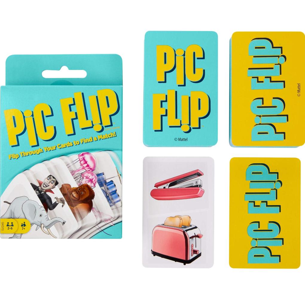 Juego de cartas para niños. Pic Flip.