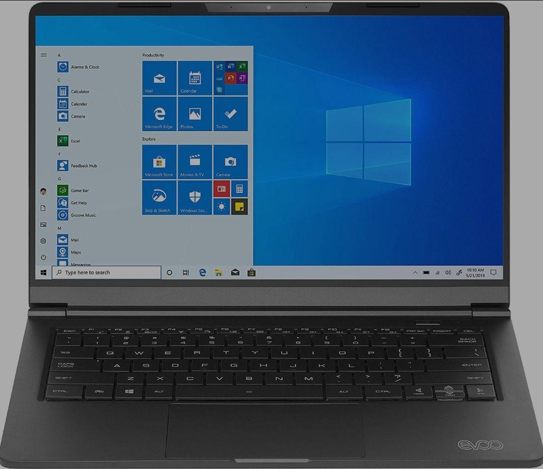"EVOO 14.1"" Ultra Slim Notebook - Serie Elite - Pantalla FHD, procesador AMD Ryzen 5 3500U"