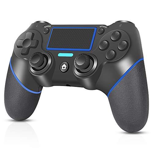 Mando Inalámbrico para PS4, RegeMoudal Mando para PS4/Pro/Slim/PC con Touch Pad y Conector de Audio Doble vibración