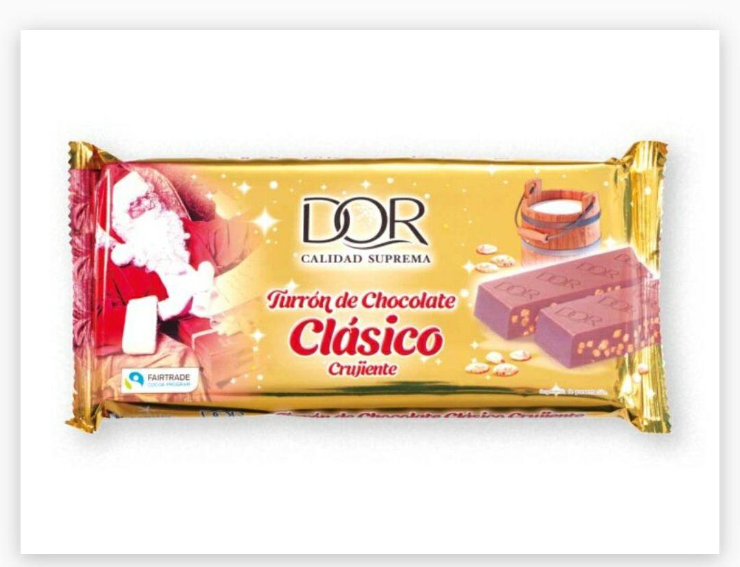 Turrón clásico crujiente de chocolate